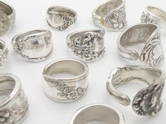 Spoon rings - how very Boho chic