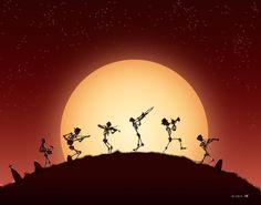 31 DOH: Dixieland Skeletons by croonstreet.deviantart.com on @deviantART