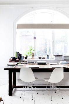 #white #home #decoration #modern #simple #buddha #study #desk #table