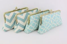 Dusty Blue Wedding Clutches / Country Style Bridesmaids by FA2U