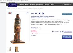 LARRY RUDICK carving for sale http://www.cowansauctions.com/auctions/item.aspx?ItemId=32148