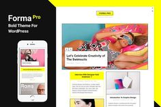 Forma Pro - Bold Theme For WordPress by Just Good Themes on @creativemarket