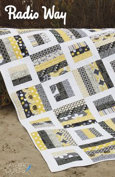 Radio Way quilt pattern from Jaybird Quilts - baby, lap, twin, king