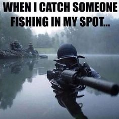 Kayak Fishing Bass Special operations forces combat diver transits the water armed with an assault rifle Wall Art, Canvas Prints, Framed Prints, Wall Peels Gone Fishing, Kayak Fishing, Fishing Stuff, Fishing Tips, Saltwater Fishing, My Champion, Fishing Quotes, Funny Fishing Memes, Fish Camp