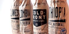 Cold Brew Packaging — The Dieline - Branding & Packaging Design Packaging Dielines, Cool Packaging, Wine Packaging, Coffee Packaging, Brand Packaging, Design Packaging, Label Design, Graphic Design, Amber Bottles