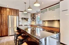 Armoires : Contemporain | Armoires Design Plus Armoire Design, Architecture Renovation, Home Reno, Home Staging, Decoration, Home Kitchens, Kitchen Remodel, Kitchen Dining, Ikea