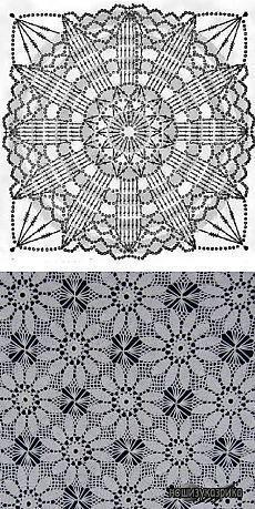 Crochet bag free granny squares New ideas Crochet Motif Patterns, Granny Square Crochet Pattern, Crochet Mandala, Crochet Diagram, Crochet Squares, Crochet Granny, Granny Squares, Crochet Bedspread, Crochet Tablecloth