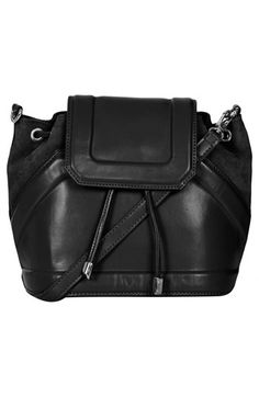 suede & leather duffle bag / topshop