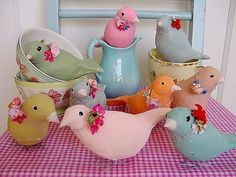 Sweet paper mache birds with how to make!
