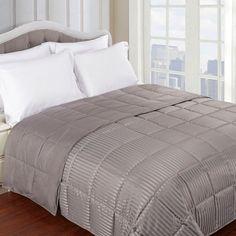 Superior All Season Down Alternative Reversible Blanket Gray - BLANKET KG GR