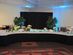Snacks & Beverages - Blue Uplights and Blue Accents