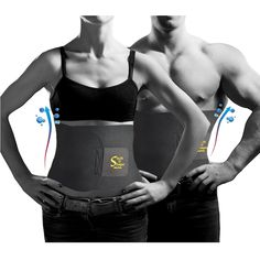 Waist Trimmer Belt Abs Adjustable Weight Loss Sauna Wrapper For Men / Women - Tone Belly - Burn Fat - 100% Satisfaction Guaranteed. - For Sale