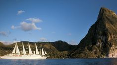 Take an exciting Windstar Cruise through St. Lucia, located northeast of St. Vincent and northwest of Barbados