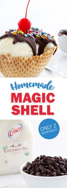 Homemade Magic Shell comes together in minutes and is perfect for summer sundaes! You'll never buy the version again!