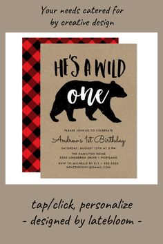 #ad Wild One   First Birthday Party Invitation #first #birthday #party #rustic #birthday #firstbirthday #1stbirthday #invitations #firstbirthdayideas #affiliatelink Rustic Birthday Parties, Lumberjack Birthday Party, Wild One Birthday Party, Boy First Birthday, First Birthday Parties, First Birthdays, First Birthday Invitations, Wild Ones, Rsvp