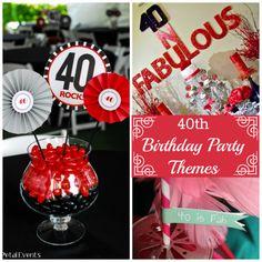 40th Birthday Themes #40thbirthday #party