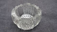 Antique 1894 Pressed Glass Rainbow Indiv Open Salt Dip