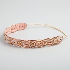 One of my favorite discoveries at WorldMarket.com: Blush Rhinestone Circles Headband half the price you'd pay for an anthropologie headband...love this!