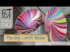 How To Pierce Polymer Clay Lentil Beads  ~ Polymer Clay Tutorials