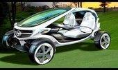 """ährend der Open Championship stellte die Marke mit dem Stern das """"Mercedes-Benz Vision Golf Cart"""" vor. Im Rahmen eines internationalen Ideenwettbewerbs beteiligten sich hunderte von Golf- und Auto-Fans und reichten Ihre Ideen für ein Golf Cart der Zukunft ein."""