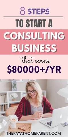 Start your own online consulting business from the comfort of your home! These 8 steps will help you become a successful consultant in any topic. Get started the right way and earn up to $80,000 consulting online. This home business idea is a genius way to start a consulting business. Plus, check out the list of profitable consulting business ideas inside so you can make money with your online business! Work From Home Jobs, Make Money From Home, How To Make Money, How To Become, Business Planning, Business Ideas, Starting Your Own Business, Small Businesses, Online Business