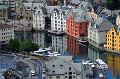Alesund in Norway Royalty Free Stock Image