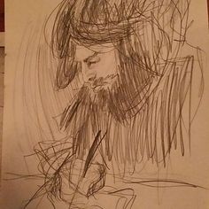 The portrait of Daniel Cicchelli. From me at the drink and draw. #draw #drawing #sketches #artist #art #sketch