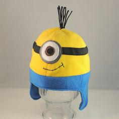 Minion Fleece Hat SIngle Eye by TheCraftEGalShop on Etsy, $20.00