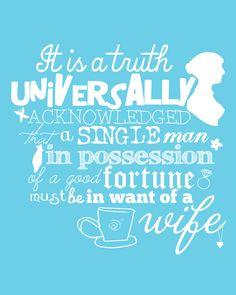 Pride and Prejudice Quote Print Jane Austen Mr. Darcy Art Print Jane Austen Quotes, Jane Austen Books, Quote Posters, Quote Prints, Movie Quotes, Book Quotes, Witty Quotes, Pride And Prejudice Quotes, Good Books