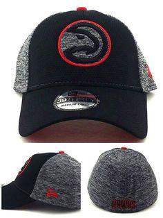 New Era Atlanta Hawks 39Thirty Fierce Fill Black Gray Red Flex Fitted Hat 726e5795f