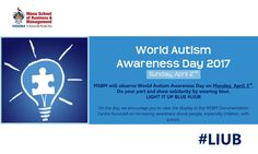 How much do you know about Autism?    Visit the MSBM Documentation Centre today as we observe World Autism Awareness Day.    #LightItUpBlue for #AutismAwareness  #MSBM #ForwardThinking #AutismAwarenessMonth #LIUB
