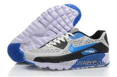 http://www.nikekwazi.com/nike-air-max-90-mens-grey-black-blue.html NIKE AIR MAX 90 MENS GREY BLACK BLUE Only $82.00 , Free Shipping!