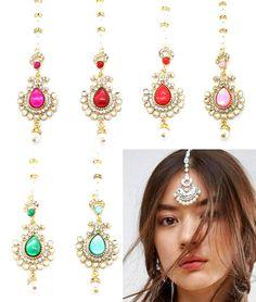 Loyal Kundan Stones Indian Head Hair Tikka Headpiece Jhumar Grecian Style Bohemian Great Varieties Jewelry & Watches Hair & Head Jewelry