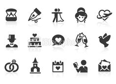 Wedding Icons Clipart Clip Art, Vintage Wedding Invitation Icons ...