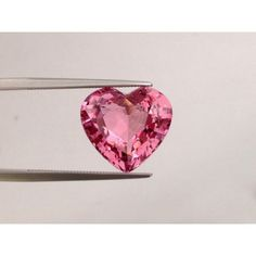Natural Pink Spinel purplish pink color heart shape 9.91 carats with GIA Report