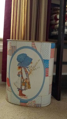 A personal favorite from my Etsy shop https://www.etsy.com/listing/491691574/1970s-holly-hobbie-metal-trash-can