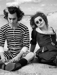Johnny Depp and Helena Bonham Carter. I kinda want to dress up like this for Halloween...