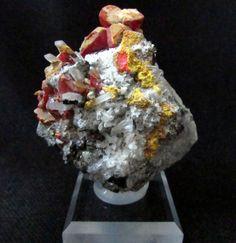 Mineral Specimen  Realgar Orpiment Quartz by NearEarthExploration, $40.00