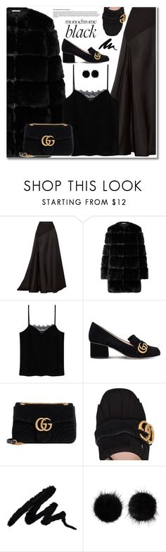 """AllBlackOutfit"" by aida-nurkovic ❤ liked on Polyvore featuring Lanvin, Givenchy, MANGO, Gucci, Wild & Woolly and allblackoutfit"