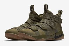 best authentic 51def c593e Nike LeBron Soldier 11 (Olive) Chaussures Nike, Toile, Air Jordan, Lebron