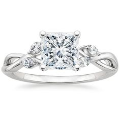 Platinum Willow Diamond Ring from Brilliant Earth