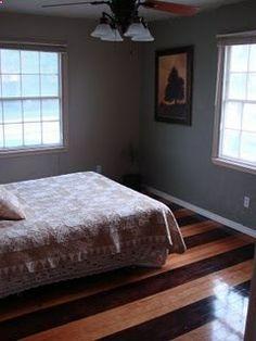 Striped hardwood floors