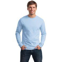 Hanes 5586 Tagless Cotton Long Sleeve T-Shirt - Lime | FullSource.com