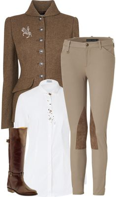 The most important role of equestrian clothing is for security Although horses can be trained they can be unforeseeable when provoked. Riders are susceptible while riding and handling horses, espec… Equestrian Chic, Equestrian Outfits, Horse Riding Fashion, Riding Pants, Country Fashion, Look Vintage, Rodeo, Autumn Fashion, Glamour
