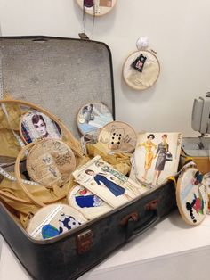 As Textiles; collaborative textiles installation, stitch, applique, collage, mix media, buttons, lace, thread, vintage papers, drawing, sketching- embroidery hoop art. A Level Textiles, Applique, Collage, Embroidery Hoop Art, Portrait Art, Vintage Paper, Diy Art, Mix Media, Stitch