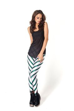 Candy Cane Green Leggings - L Green Leggings, Women's Leggings, Black Milk Clothing, Colorful Candy, My Black, Sexy Legs, Cool Style, Style Inspiration, Candy Canes