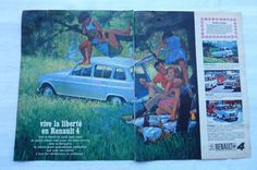 Belle Publicité Renault 4- Deux Pages issues  d'un magazine  année 1965  | Collections, Objets publicitaires, Publicités papier | eBay!