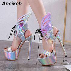 Gladiator Sexy Sequin Heels Neon Pumps, Women's Pumps, Shoes Heels, Party Models, Party Shoes, Fashion Models, Peep Toe, High Heels, Sexy