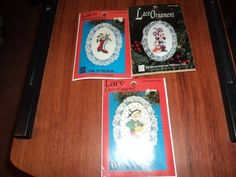 Designs for the Needle Lace Christmas Ornaments Cross Stitch Kits Set of 3 #DesignsForTheNeedle #Ornaments