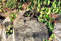 Arqueología: Emergen ancestrales petroglifos chorotegas en una isla de Nicaragua por la sequía. Algunos de los petroglifos hallados en Punta La Tijereta, cerca de la comarca San Ramón, en la isla de Ometepe. (Fotografía: La Prensa / Carlos Coronel Kinloch)
